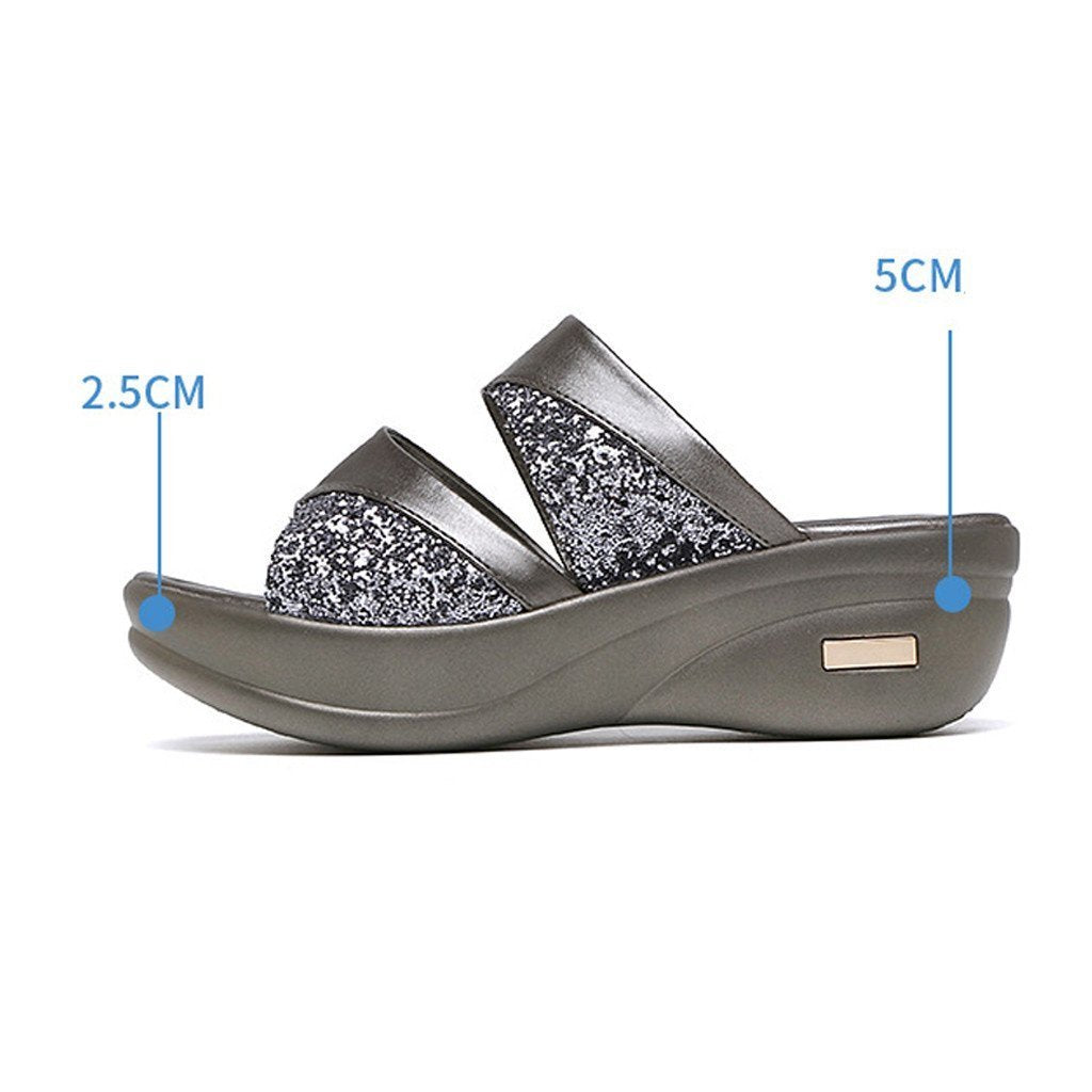 Women Platform Wedge Open Toe Casual Shoe【Buy 2 Free Shipping】