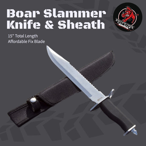 "The ""Boar Slammer"" Knife and Sheath"