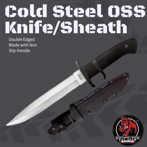 Cold Steel OSS Hog Hunting Knife/Sheath