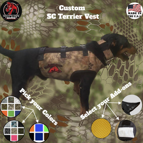 Custom Southern Cross Terrier Vest - Southern Cross Cut Gear