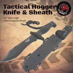 "The ""Tactical Hogger"" Knife and Sheath"