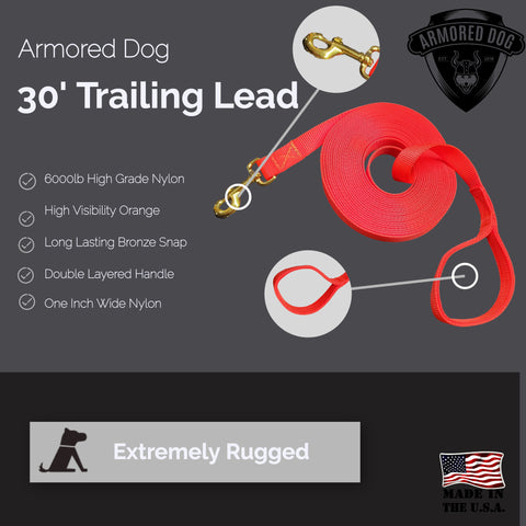 30' Trailing Dog Lead