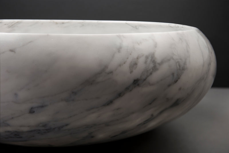 Classic White Marble Bowl
