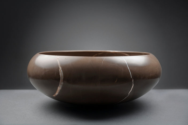 Marble Bowl Marrón