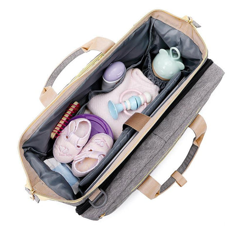 Folding Crib Backpack, Diaper Bag Backpack, Multi Functional Diaper Bag Backpack, Diaper Travel Bassinet, Expandable Baby Bed