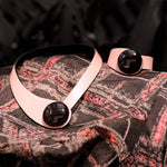 Load image into Gallery viewer, Pink Leather Necklace+ Ceramic Button