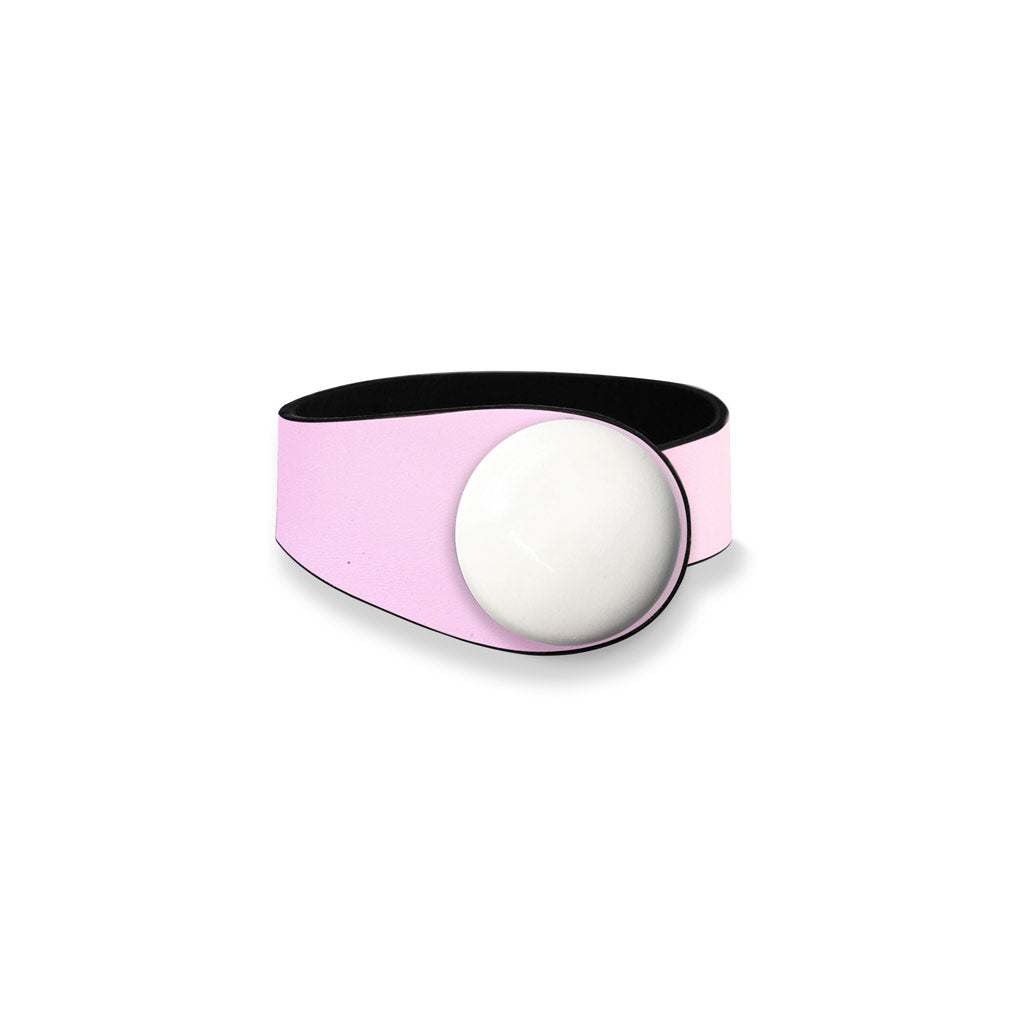 Pink Leather Bracelet + Ceramic Button