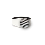Load image into Gallery viewer, White Leather Bracelet + Ceramic Button