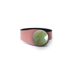 Load image into Gallery viewer, Copper Leather Bracelet + Ceramic Button