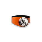 Load image into Gallery viewer, Orange Leather Bracelet + Ceramic Button
