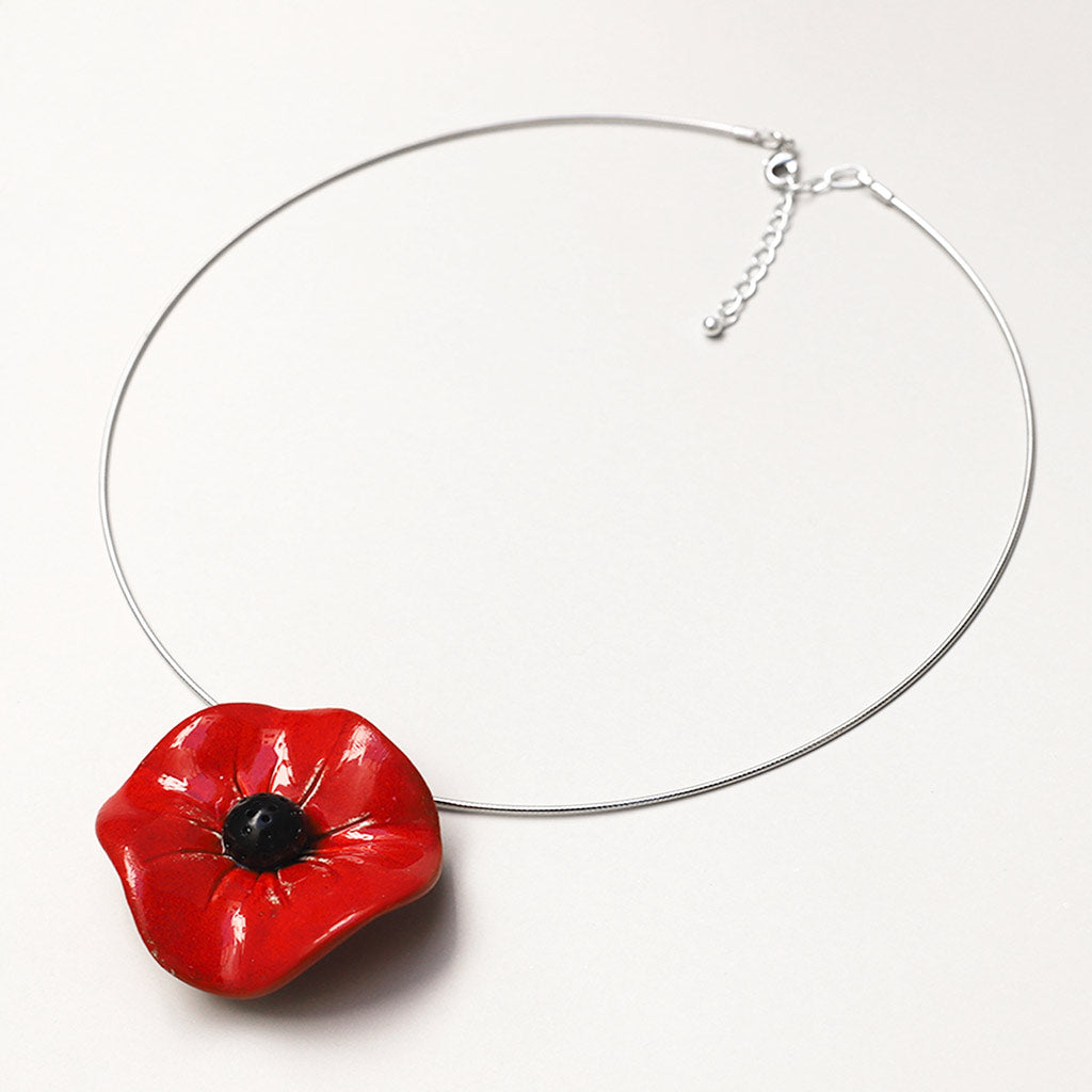 Big Flower Omega Necklace