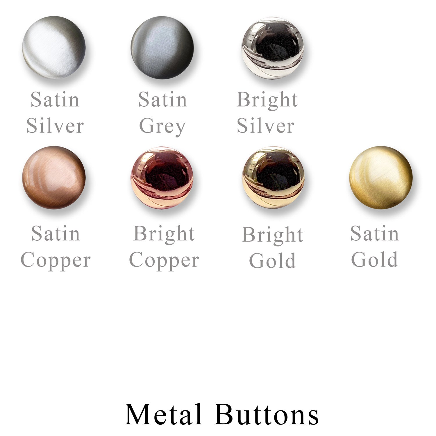 Metal Button - interchangeable closer
