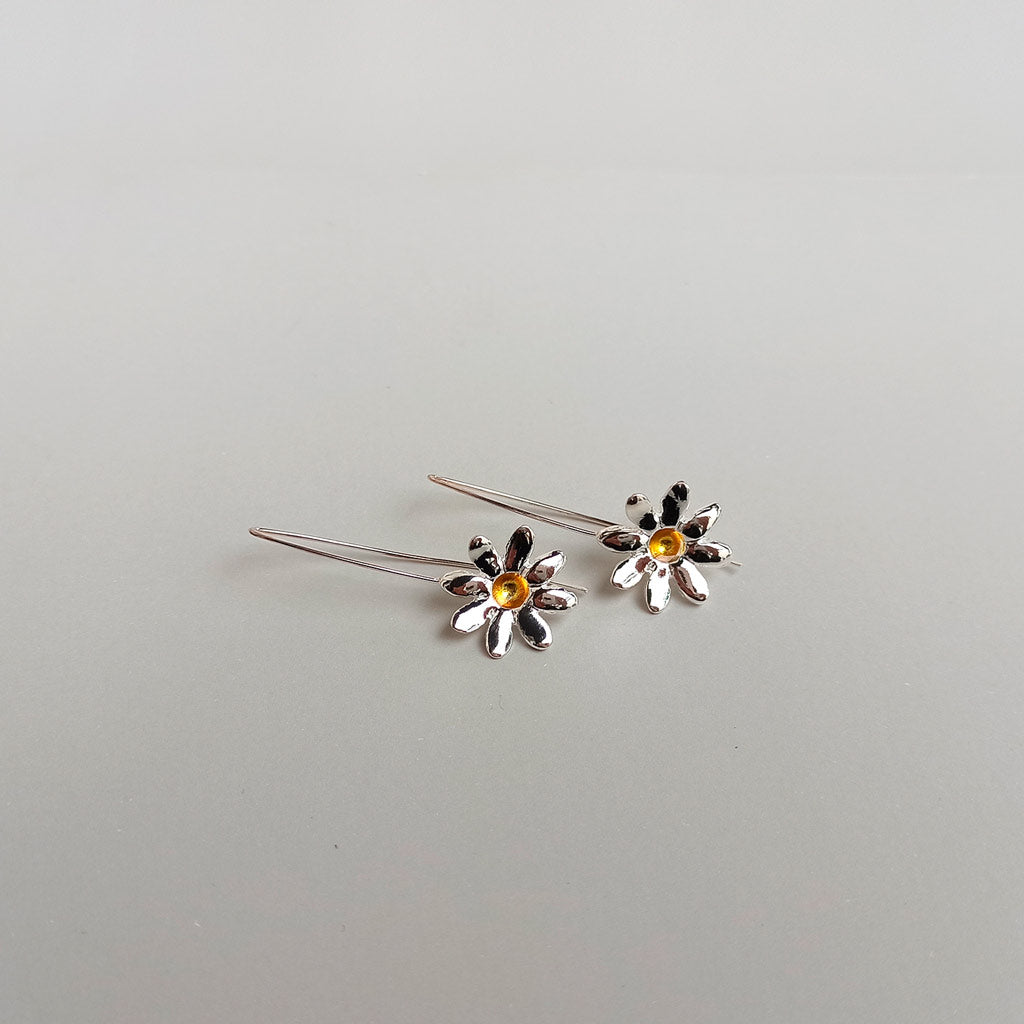 Daisy Earrings - Long hook