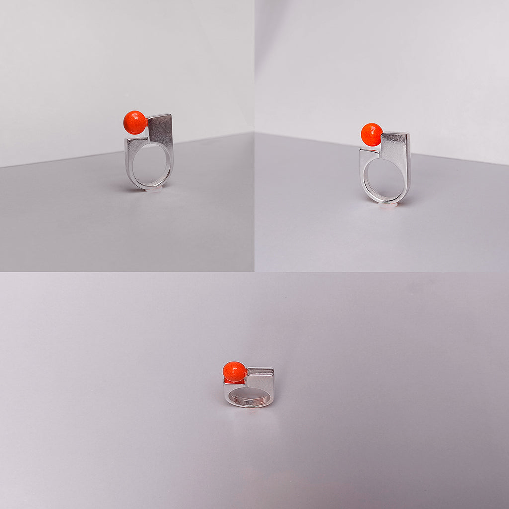 Little Drop Ring-Bright Metal