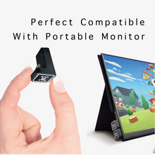 Load image into Gallery viewer, 180º Full Function USB Type-C Convertor for Xcreen2go Portable Monitor