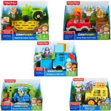 Fisher price little people kleine voertuigen ASSORTI - AllesKids4Toys