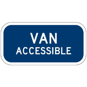 Blue/White Van Accessible - Signs Everywhere USA
