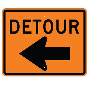 Detour Left Arrow - Signs Everywhere USA