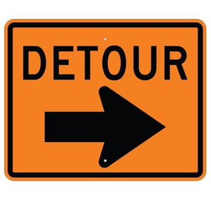 Detour Right Arrow - Signs Everywhere USA