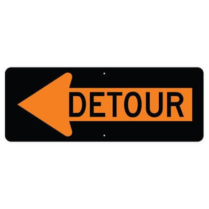 Detour Inside Left Arrow - Signs Everywhere USA