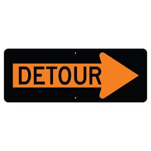 Detour Inside Right Arrow - Signs Everywhere USA
