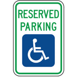 Handicap Reserved Parking (No Arrows) - Signs Everywhere USA