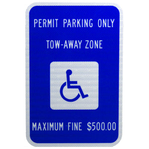 Handicap Reserved - Permit Parking Only - Signs Everywhere USA