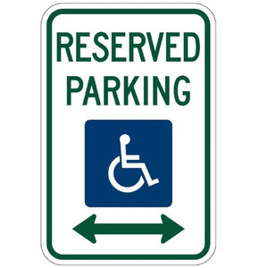 Handicap Reserved Parking (Double Arrows) - Signs Everywhere USA
