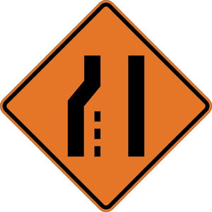 Left Lane Ends (Symbol) - Signs Everywhere USA