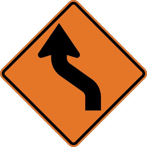 Left Reverse Curve (Symbol) - Signs Everywhere USA