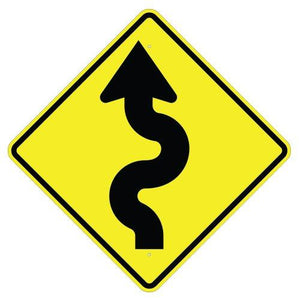 Left Winding Road (Symbol) - Signs Everywhere USA