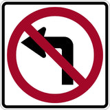 No Left Turn - Signs Everywhere USA