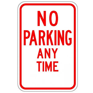 No Parking Anytime (No Arrows) - Signs Everywhere USA