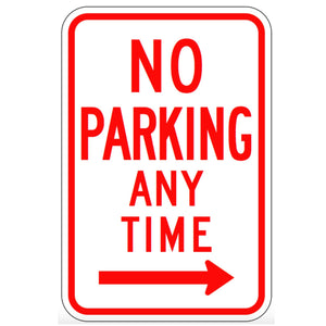 No Parking Anytime (Right Arrow) - Signs Everywhere USA