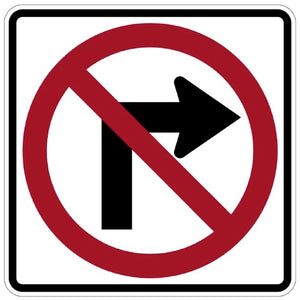 No Right Turn (Symbol) - Signs Everywhere USA