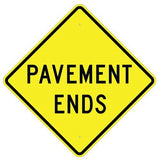 Pavement Ends - Signs Everywhere USA
