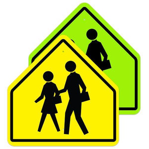 School Pedestrian Crosswalk (Symbol) - Signs Everywhere USA