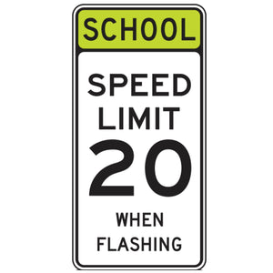School Speed Limit XX When Flashing - Signs Everywhere USA