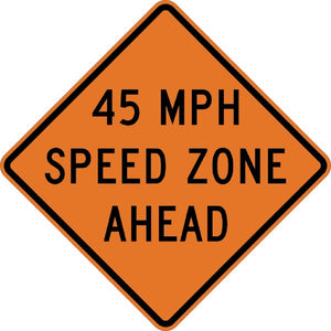Speed Zone Ahead - Signs Everywhere USA