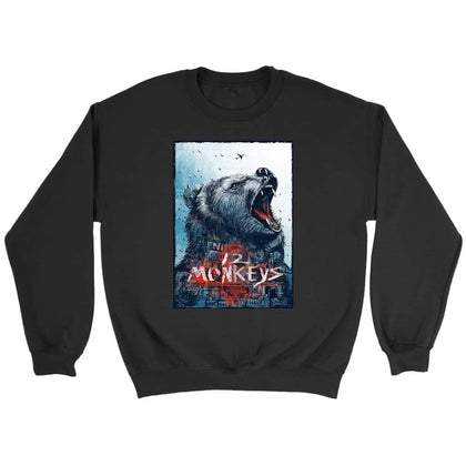 12 Monkeys Sweat - Sweat ras du cou / Noir / S - T-shirt