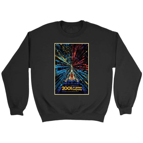 2001 Space Odyssey Classic Sweatshirt - Crewneck Sweatshirt / Black / S - T-shirt