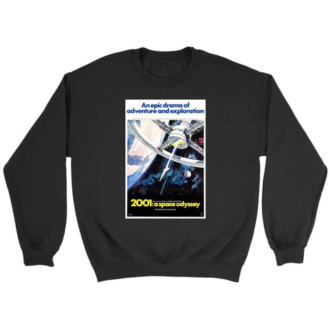 2001 Space Odyssey Original Sweatshirt - Crewneck Sweatshirt / Black / S - T-shirt