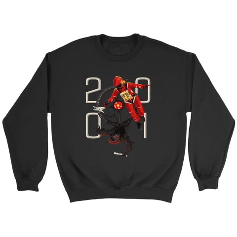 2001 Space Odyssey Sweatshirt - Crewneck Sweatshirt / Black / S - T-shirt