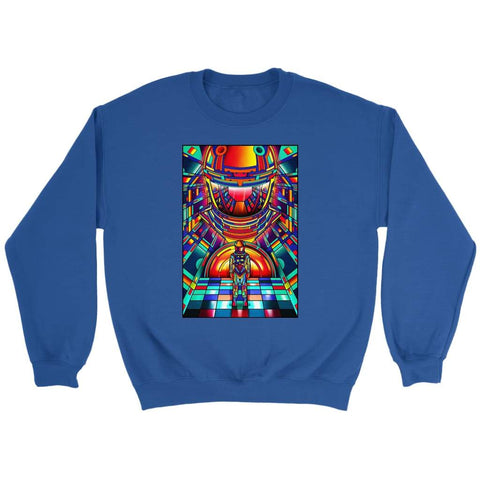 2001 Space Odyssey Vintage Sweatshirt - Crewneck Sweatshirt / Royal / S - T-shirt