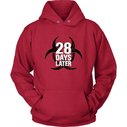 28 Days Later Hoodie - Sweat à capuche unisexe / Rouge / S - Sweat à capuche