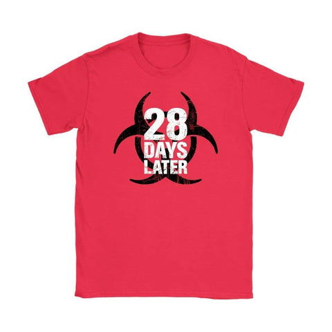 28 Days Later Womens T-shirt - Gildan Womens T-Shirt / Red / S - T-shirt