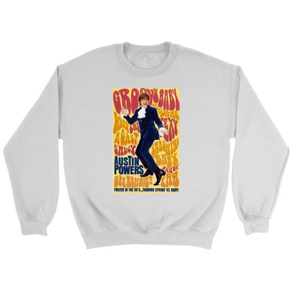 Austin Powers Sweatshirt - Sweat ras du cou / Blanc / S - T-shirt