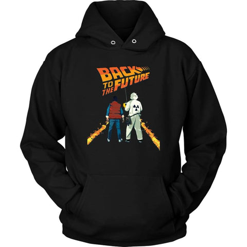 Back to the Future Marty and Doc Hoodie - Unisex Hoodie / Black / S - T-shirt