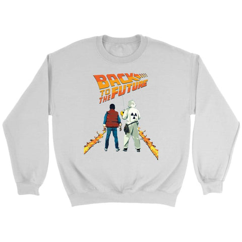 Back to the Future Marty and Doc Sweatshirt - Crewneck Sweatshirt / White / S - T-shirt