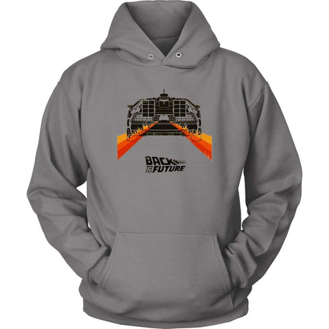 Back to the Future Minimalist Hoodie - Unisex Hoodie / Grey / S - T-shirt